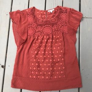 Rust colored shirt
